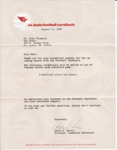 Football Cardinals – Letter