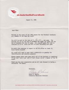 Football Cardinals – Letter 2